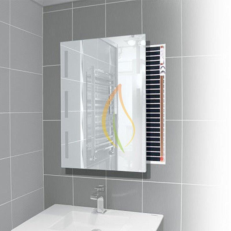 heizfolie als w rme gegen beschlagene spiegel infrarot fu bodenheizung mi. Black Bedroom Furniture Sets. Home Design Ideas