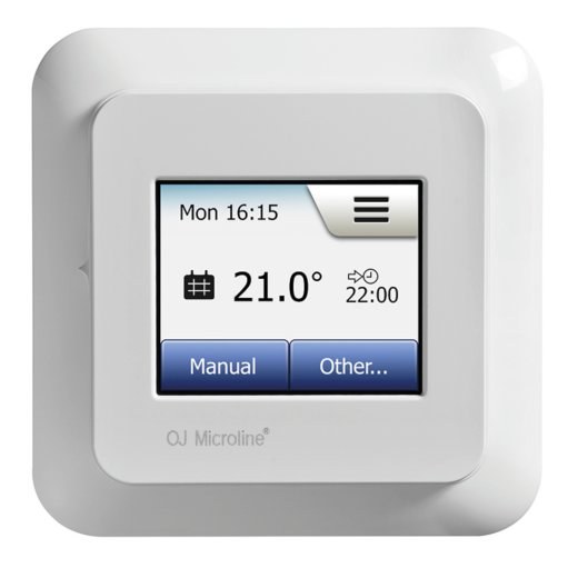 OCD5 Touchscreen Thermostat Vorderansicht