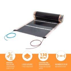 Comfort heating film 130Watt/m² 50cm wide completely...