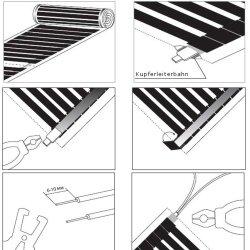 Comfort heating film 130Watt/m² 50cm wide kit