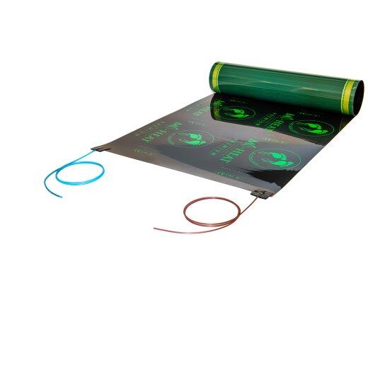 Infrarot Heizfolie mit 2,5 Meter Kabel konfektioniert
