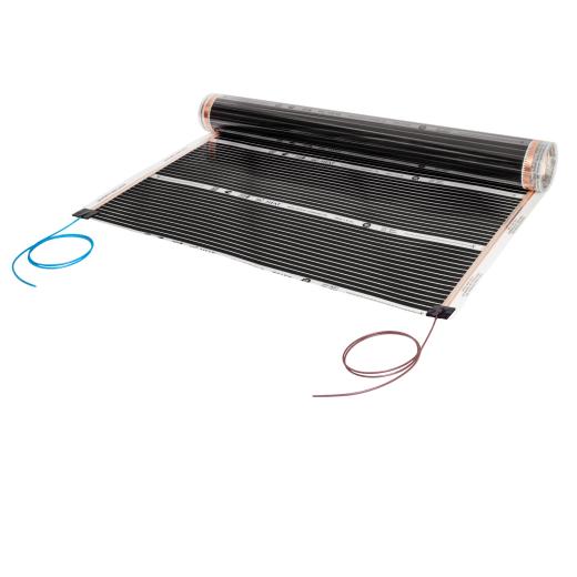 Comfort heating film 130Watt/m² 100cm wide completely assembled