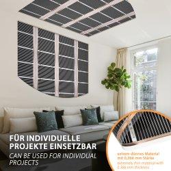 Comfort Heizfolie 160Watt/m² 100cm breit konfektioniert