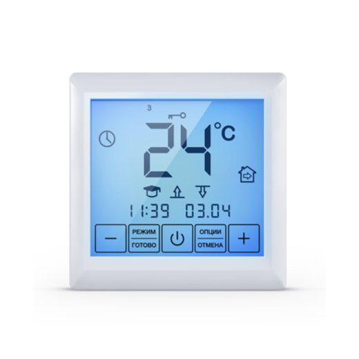 Mi200 Touchscreen Thermostat Vorderansicht