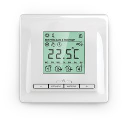 Mi520 Flush mounted thermostat black