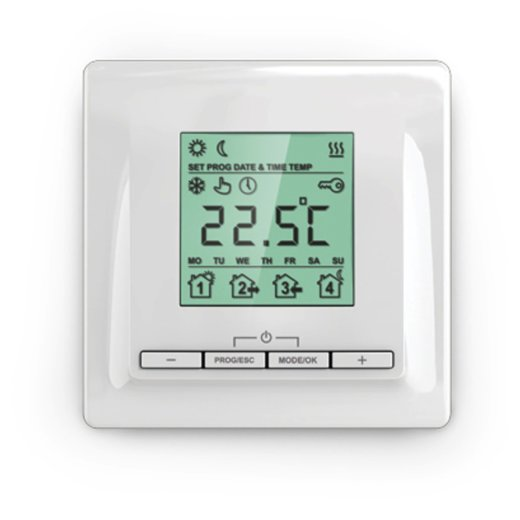 MI520AP Digital Thermostat Surface Mount Front View