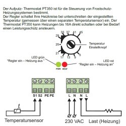 PT350 Wall Mount Thermostat for Outdoor