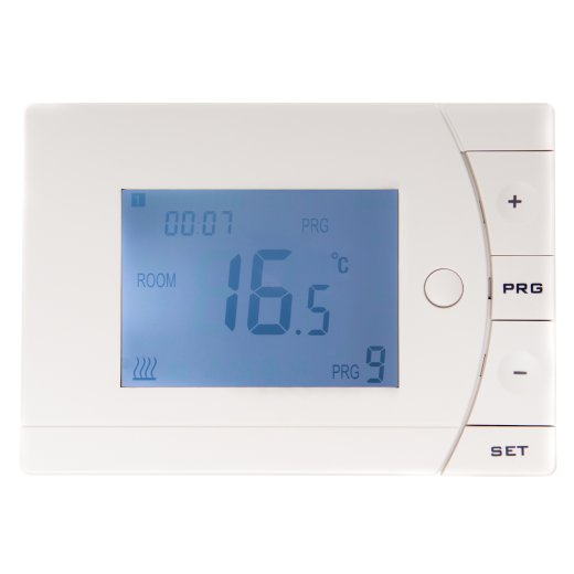 Optima Thermostat Vorderansicht beleuchtet