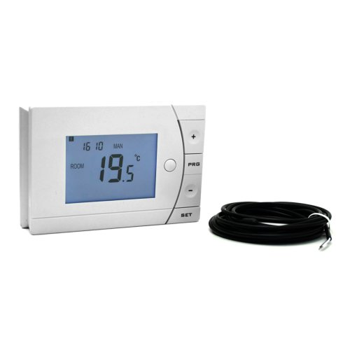 Optima Thermostat Vorderansicht unbeleuchtet