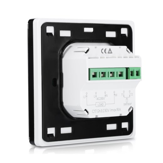 C17 Digital Thermostats Black Side View