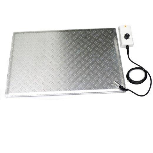 Aluminum Heated Foot Warmer Plate 48x68cm