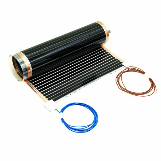 Comfort PTC heating film 220Watt/m² 50cm wide fully assembled 1-6m