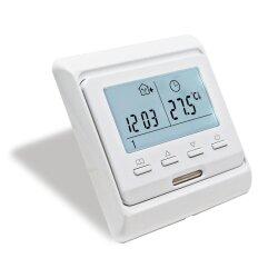 E51 Flush mounted thermostat white
