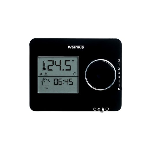 Warmup Tempo Flush mounted thermostat black