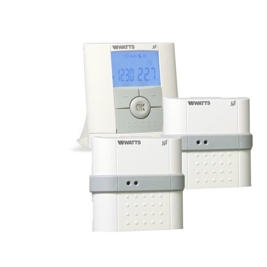 Watts Vision Digital Programmable Thermostat + Flush-mounted Receiver