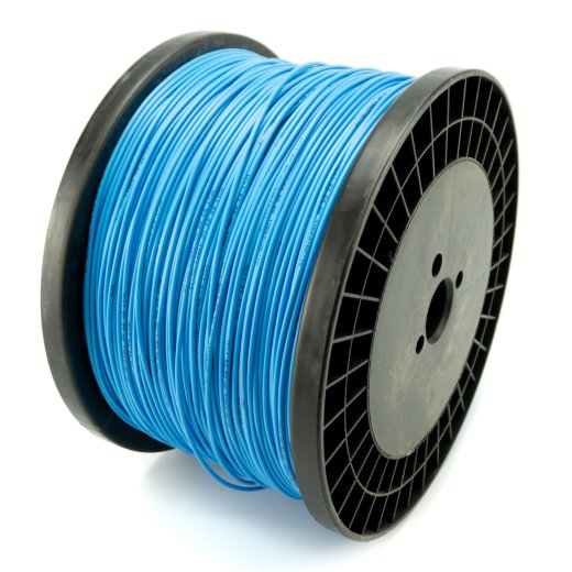 Connecting Cable double insulated blue 1,5mm² 400m for Heating Films