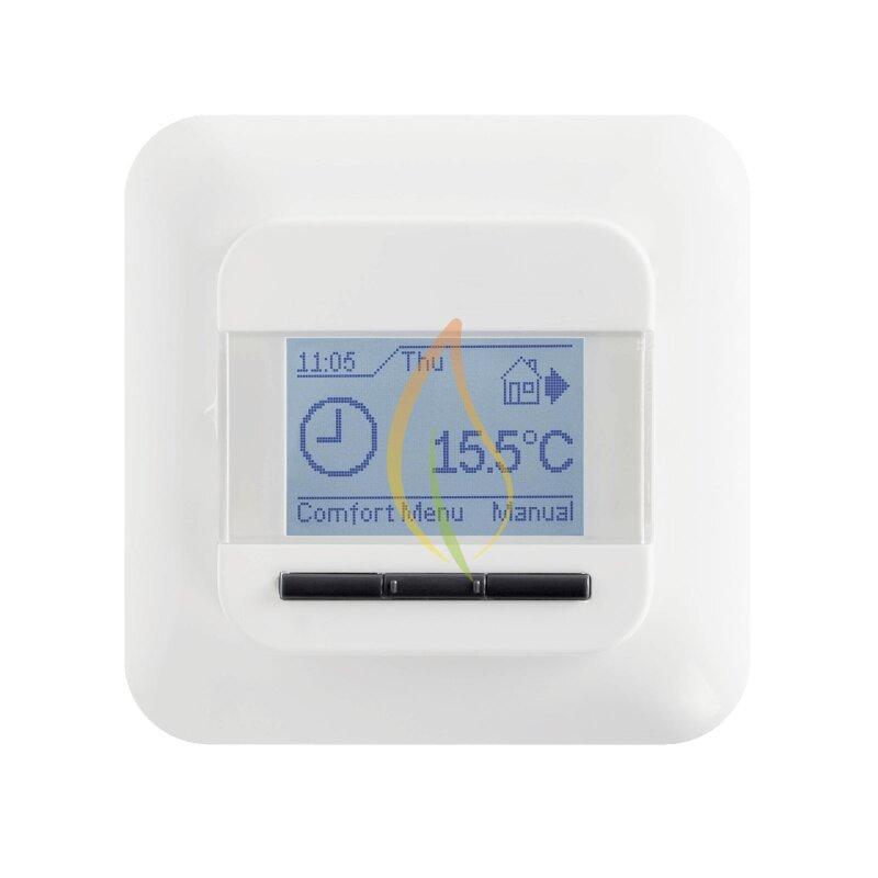 digitales raumthermostatt ocd4 your specialist for infrared underfloor heating. Black Bedroom Furniture Sets. Home Design Ideas