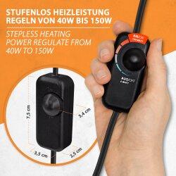 Infrarot Wärmeplatte 150Watt mit Dimmer 30x60cm