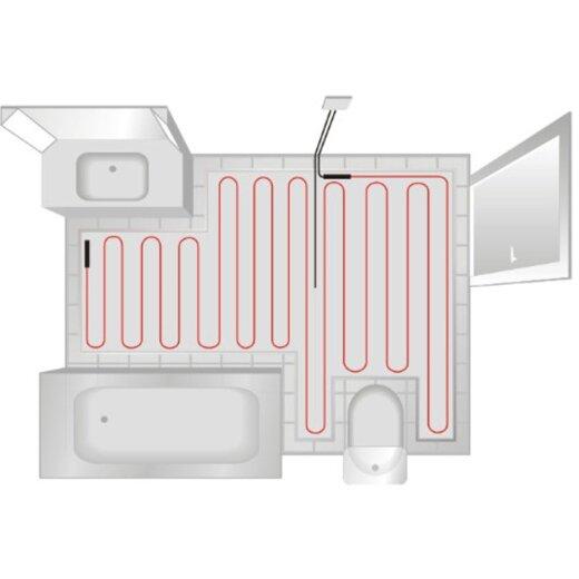 200W//m2 Komfortable W/ärme In All Ihren R/äumen EXTHERM TWIN Heizkabel-Matte F/ür Elektrische Fu/ßboden-Heizung 1m/² Erneuerbare Energiel/ösung 1m/² - Installation
