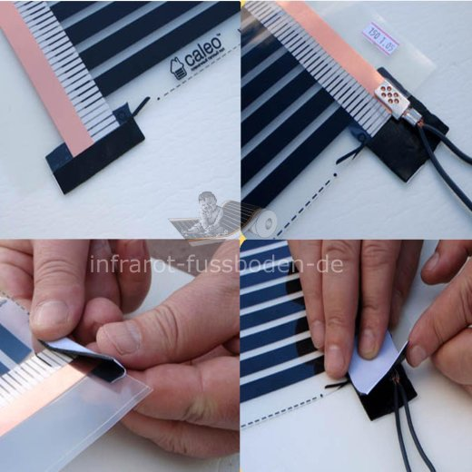 Crimp Connector 4p. for Infrared Heating Film