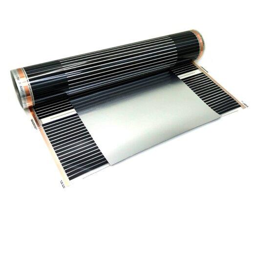 Comfort Heizfolie mit Erdung 180Watt/m² 90cm breit Konfektioniert 1-4m