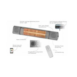Electric Patio Heater HM-HB with Music 2000Watt