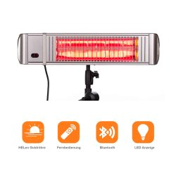 Electric Patio Heater HM-L with App Control 2000Watt Silver