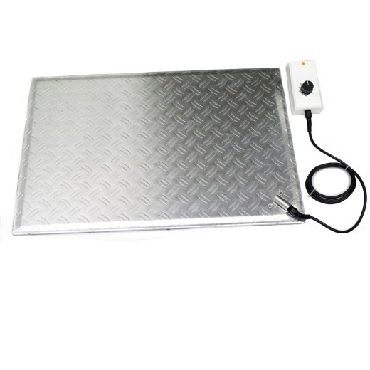 Aluminum Heated Foot Warmer Plate 48x68cm