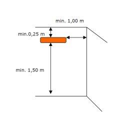 Terrassenstrahler HM2000 mit Fernbedienung 2000Watt Silber