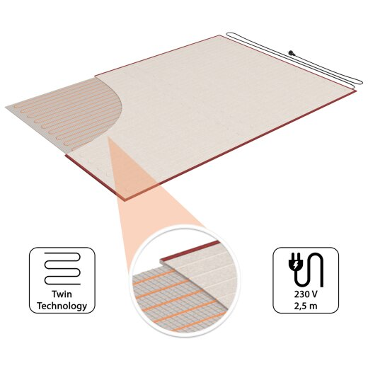 Carpet Underlay Heating 100x140cm