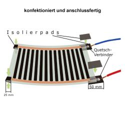 24V Heizfolie 50cm breit 130W/m²