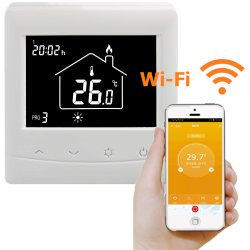 HT08 Digital Thermostat Front View