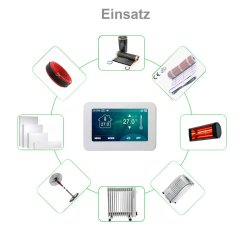 """Optima Wlan 7"""" Touch Thermostat"""
