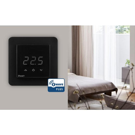 Heatit Z-Wave Thermostat Black