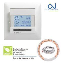 OCD4 Flush mounted thermostat black