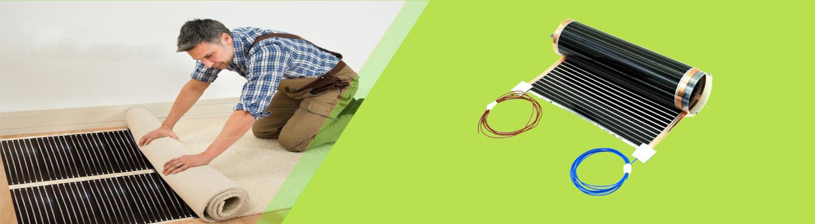 Infrarot Heizfolie für Laminat Parkett